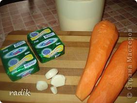 Когда хочется приготовить что-нибудь к ужину, но мало времени, этот салат придется очень кстати! Варить ничего не надо, а морковка и плавленые сырки у меня всегда под рукой! фото 2