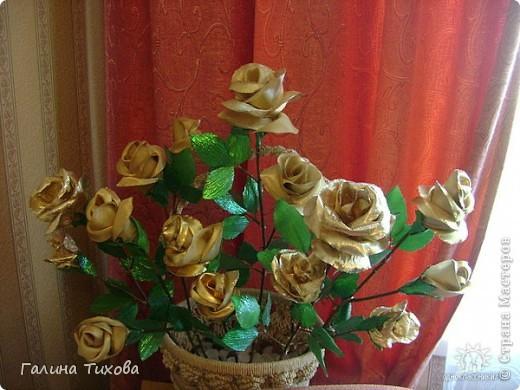 Розы из красной парчи. фото 2