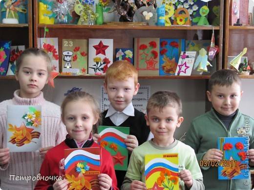Вот эти открытки мы вручали ветеранам. Дети делали их с радостью. фото 1