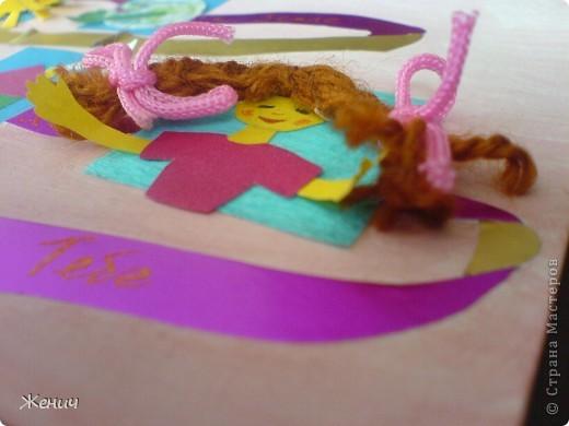 А вот вторая открытка.  Основа - лист для черчения, пограшенный гуашью, Ленточки - из металлизированной самоклеющейся бумаги. фото 5