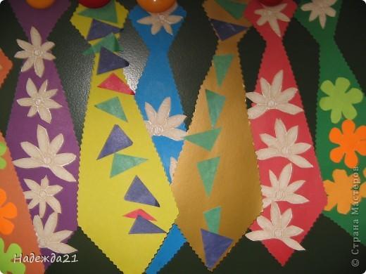 Вот такие галстуки для пап получились сегодня во второй младшей группе. фото 11