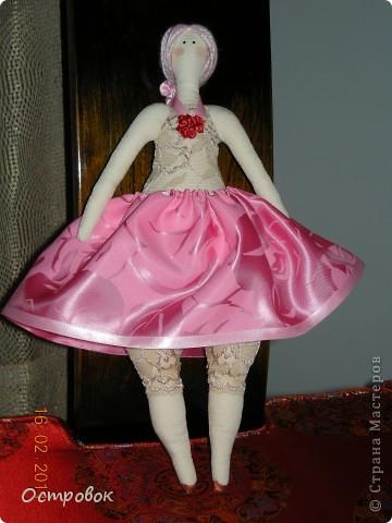 Вот такая розовая принцесса толстушка у меня получилась. фото 1