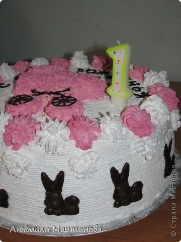 Этот тортик пекла к Дню Рождения дочурки. Получился довольно таки большим. Около 8 кг. МК по приготовлению Медовика есть в моём блоге. фото 4