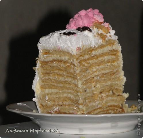 Этот тортик пекла к Дню Рождения дочурки. Получился довольно таки большим. Около 8 кг. МК по приготовлению Медовика есть в моём блоге. фото 5