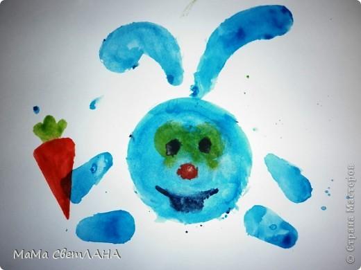 Земляничка. Посмотрели мы Лунтика и тоже решили нарисовать ягодки. фото 9