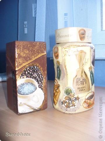 Невозможно было не повторить зашибенный дизайн баночек Taoli из Запорожья, идея - супер! Вторая баночка неудачная и страшненькая, но лучше кофе в ней, чем в вечно падающем пакете с прищепкой :-) фото 2