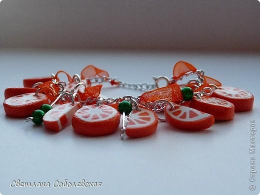Апельсиновый браслет фото 1