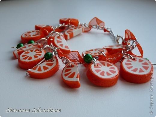 Апельсиновый браслет фото 2