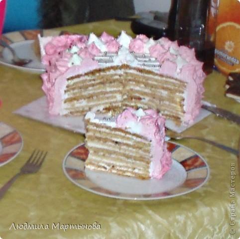 Этот тортик пекла к Дню Рождения дочурки. Получился довольно таки большим. Около 8 кг. МК по приготовлению Медовика есть в моём блоге. фото 21
