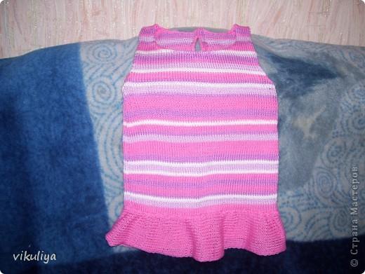 платье розовое в полоску