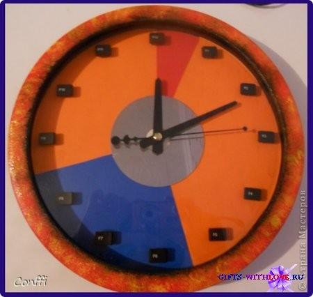 Декор предметов 23 февраля День рождения Часы программиста