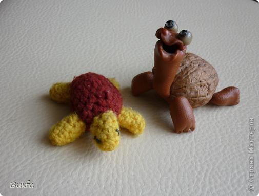 Дорогие мастерицы и мастера! Я, наконец-то пришла к концу серии фоторепортажей (ха-аха) о небольшой коллекции черепах, которую собирали мы всей семьюй. Если заинтересовались посмотрите раньше загруженные здесь: http://stranamasterov.ru/node/151515 http://stranamasterov.ru/node/151571 http://stranamasterov.ru/node/151613 http://stranamasterov.ru/node/152140 http://stranamasterov.ru/node/152480 http://stranamasterov.ru/node/152628  Закончить решила показом черепах самодельных. Таких тоже есть немножко. Надо бы расширить их ассортимент, да появилось другое увлечение - фигурки ангелов. Ну ладно хватит распинаться. Это сборная модель черепахи. Вот она-то самая большая в доме. Опять моя любимая водяная. Собирал сын, он тогда в школе учился. Конечноиз покупного набора. Но все-таки поделка. Или нет? фото 2