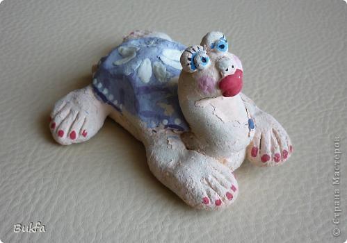 Дорогие мастерицы и мастера! Я, наконец-то пришла к концу серии фоторепортажей (ха-аха) о небольшой коллекции черепах, которую собирали мы всей семьюй. Если заинтересовались посмотрите раньше загруженные здесь: http://stranamasterov.ru/node/151515 http://stranamasterov.ru/node/151571 http://stranamasterov.ru/node/151613 http://stranamasterov.ru/node/152140 http://stranamasterov.ru/node/152480 http://stranamasterov.ru/node/152628  Закончить решила показом черепах самодельных. Таких тоже есть немножко. Надо бы расширить их ассортимент, да появилось другое увлечение - фигурки ангелов. Ну ладно хватит распинаться. Это сборная модель черепахи. Вот она-то самая большая в доме. Опять моя любимая водяная. Собирал сын, он тогда в школе учился. Конечноиз покупного набора. Но все-таки поделка. Или нет? фото 7