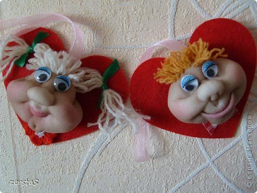 """Эти личики шились для """"кукл на удачу"""", но им суждено было стать валентинками. фото 6"""