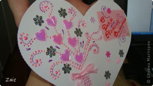Ну вот и моя валентинка (снаружи) фото 3