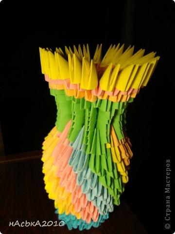 Из остатков модулей решила сделать вазочку=) фото 1