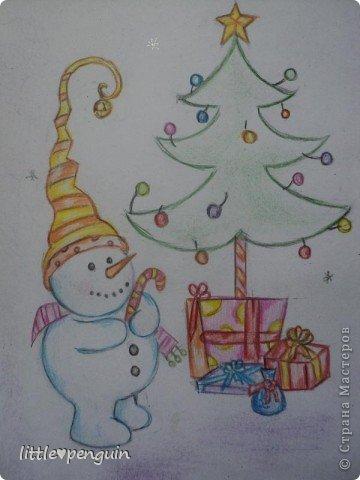 Открытка сделанная в подарок под Новый год. фото 5