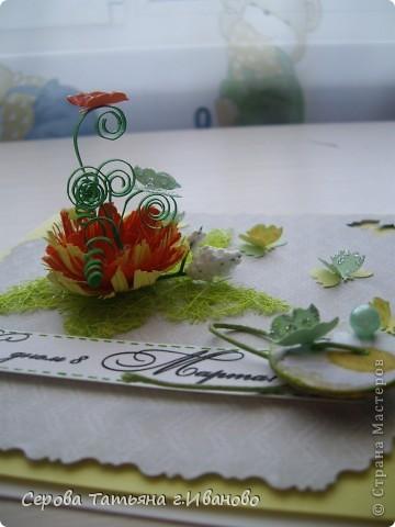 У меня ОГРОМНЕЙШАЯ радость: мне прислали фигурные дыроколы! Открытка на самом деле выглядит совсем по-другому, но сфотогравировать путно никак не получается...наверно надо было сфотографировать без серединки в цветке и бабочек на нем, тогда картинка была б понятней фото 2