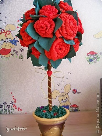 "Моё первое деревцо! Спасибо  Ирина из Орла за её ""Лимонный пломбир"" http://stranamasterov.ru/node/106919?c=new_541. фото 1"