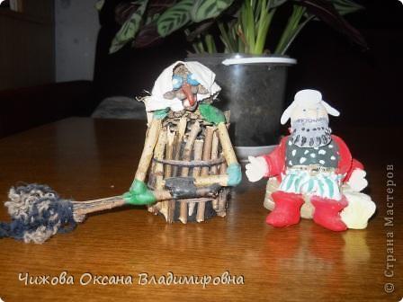 Баба Яга залетела в гости к Деду фото 1