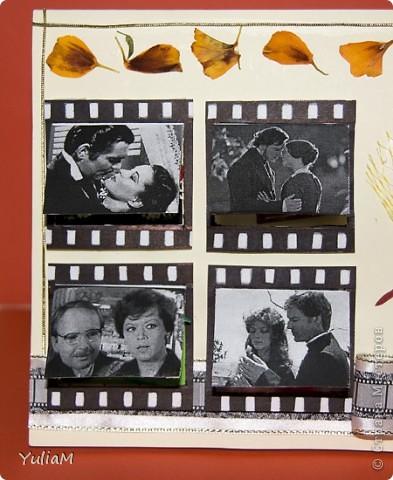 """Здравствуйте! Кажется, успела... Так хотелось принять участие в игре, а вдохновения все не было и не было... Но вот посмотрела """"Весну на Заречной улице"""" и идея пришла! В фильмах отражены все ипостаси любви - радости, огорчения, веселые ситуации. И у каждого из нас есть любимый фильм о любви. который смотрен-пересмотрен... Вот поэтому - """"Любовь, кино и ..."""" фото 3"""