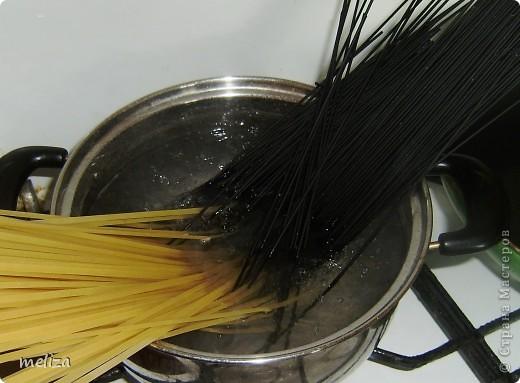 Спагетти с морепродуктами фото 6