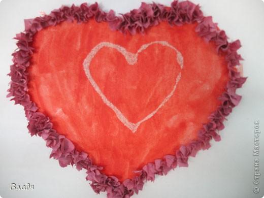 Внутри сердечко из манки. фото 1