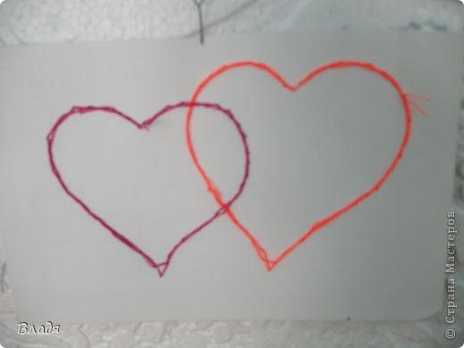 Внутри сердечко из манки. фото 3