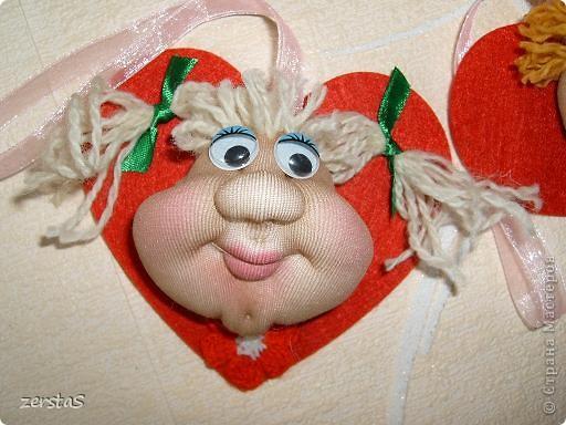 """Эти личики шились для """"кукл на удачу"""", но им суждено было стать валентинками. фото 3"""