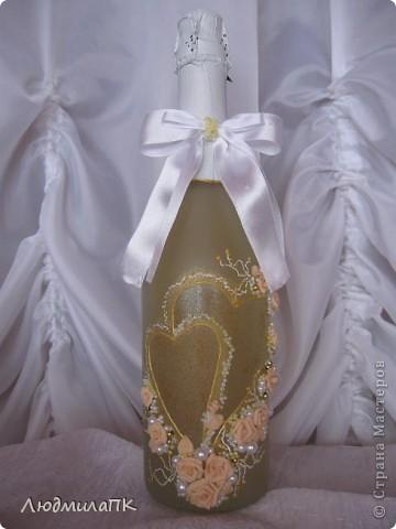 Очередной набор с сердечками. Теперь уже с персиковыми розами, с золотом. фото 3