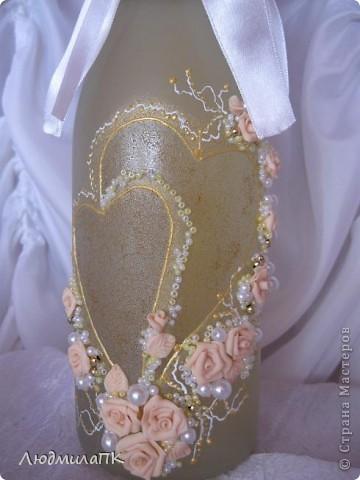 Очередной набор с сердечками. Теперь уже с персиковыми розами, с золотом. фото 4