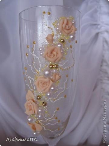 Очередной набор с сердечками. Теперь уже с персиковыми розами, с золотом. фото 7