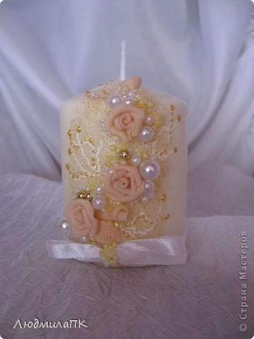 Очередной набор с сердечками. Теперь уже с персиковыми розами, с золотом. фото 9