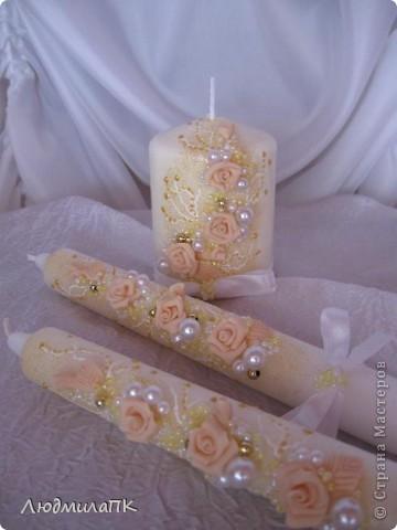 Очередной набор с сердечками. Теперь уже с персиковыми розами, с золотом. фото 10