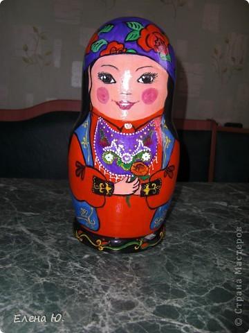 Роспись матрешки в национальном хакасском костюме. фото 1