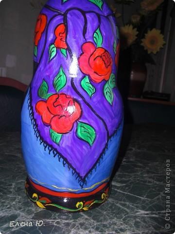 Роспись матрешки в национальном хакасском костюме. фото 4