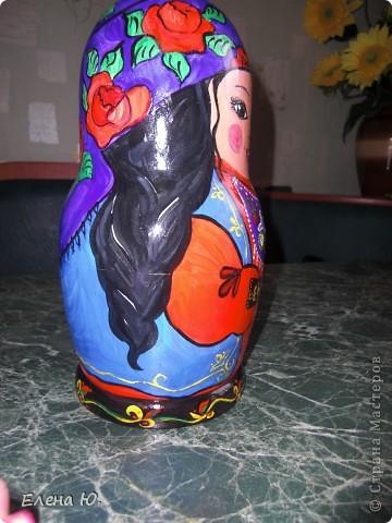 Роспись матрешки в национальном хакасском костюме. фото 2