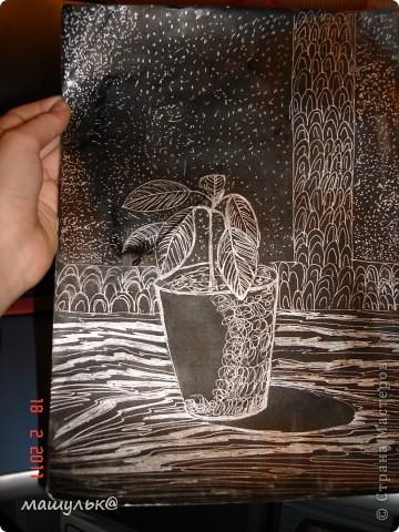 оригинальная зарисовка цветка фото 2