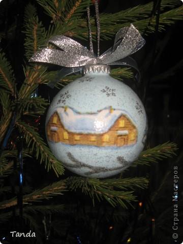 Новогодний шарик -Зима фото 3