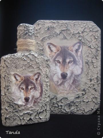 Есть у меня приятель, очень он волков любит. Вот и решила сделать ему такой вот подарок на 23 февраля... фото 1