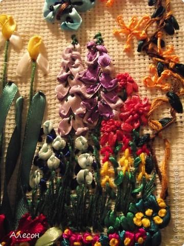 Вышивка  лентой. фото 2