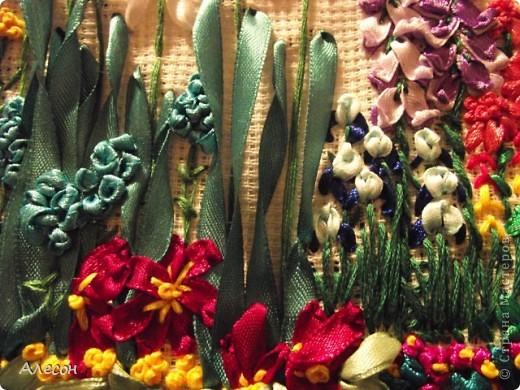 Вышивка  лентой. фото 3