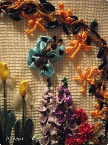 Вышивка  лентой. фото 4