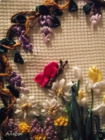Вышивка  лентой. фото 5