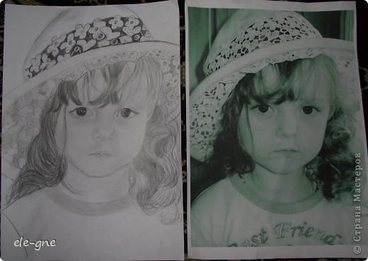 слева рисунок, справа оригинал качество фото правда не очень.