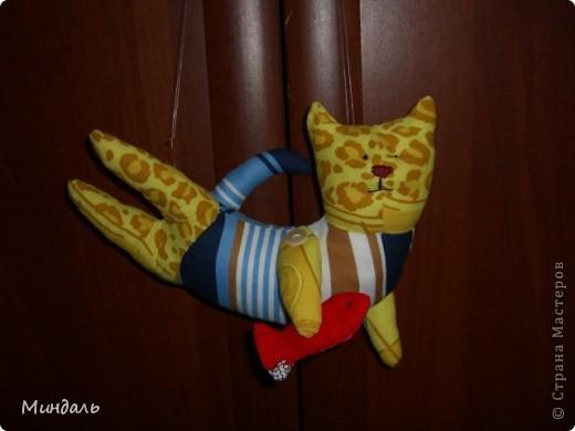 Котик рыбку поймал и рад. фото 1