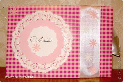 Вот какие открыточки у нас получились! ))) Это наш первый опыт в изготовлении открыток. фото 8