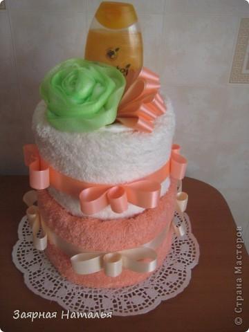Банный тортик для сотрудницы на ДР