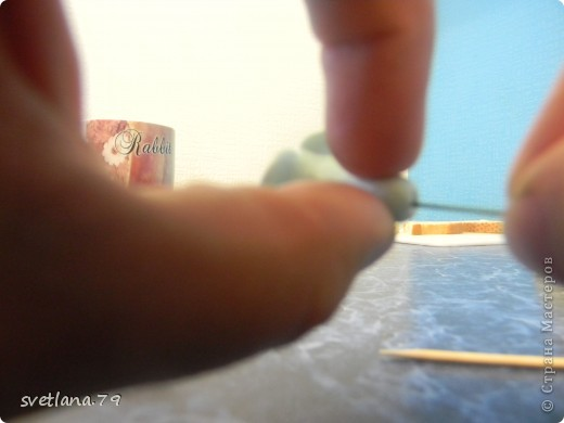 Делаем из пластики колбаску фото 5