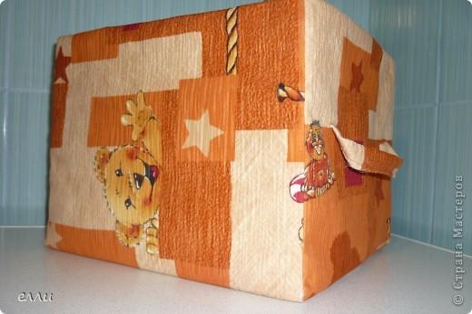 Коробка для полотенец в ванную комнату,потом сделаю в цвет ванной,а эта пробная. фото 1